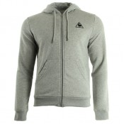 Le Coq Sportif Ailier Fz Hood Unbr M Light Heather Grey Gris Sweats Homme en Promo