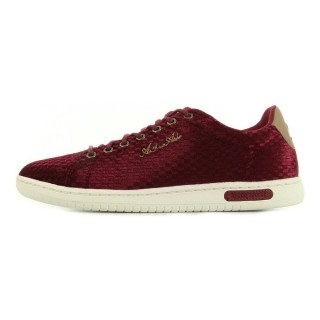 Le Coq Sportif Arthur Ashe Int W Velvet Ruby Wine Violet - Chaussures Baskets Basses Femme Réduction