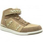 Le Coq Sportif Diamond Elance Mid Beige - Chaussures Basket Femme France Magasin