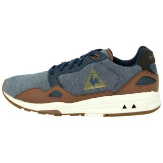 Le Coq Sportif Lcs R900 Chambray Chaussures Mode Sneakers Homme Bleu Jean Deni Bleu France Magasin