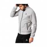 Le Coq Sportif Lcs Tech Fz Sweat M Heather T-Shirts Manches Courtes Homme Promos