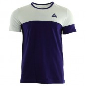 Le Coq Sportif Merrela Tee Ss M Optical Blanc Ultra Blue Blanc T-Shirts Manches Courtes Homme Moins Cher