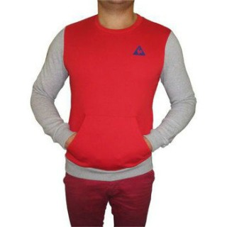 Le Coq Sportif Sweat Helior Crew Rouge Pulls Homme Promos Code