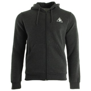 Paris Le Coq Sportif Ailier Fz Hood Brushed M Dark Heather Grey Gris Sweats Homme