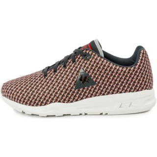 Promotions Le Coq Sportif Lcs R950 Géo Jacquard Gris/Orange - Chaussures Baskets Basses Homme
