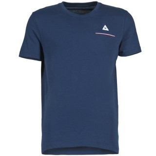 Soldes Le Coq Sportif Fluorin Pocket T Marine T-Shirts Manches Courtes Homme