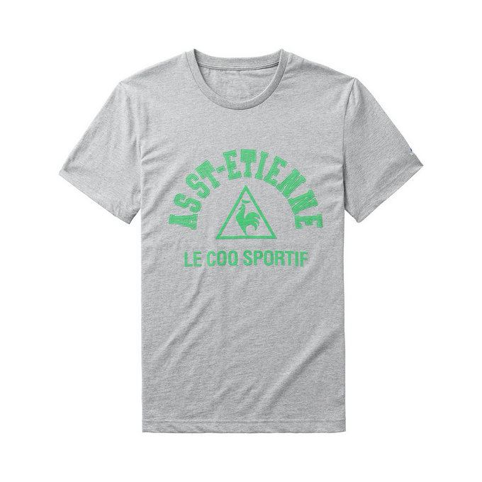 Le Coq Sportif Fanwear Tee As Saint Etienne Light Grey T-Shirts Manches Courtes Homme