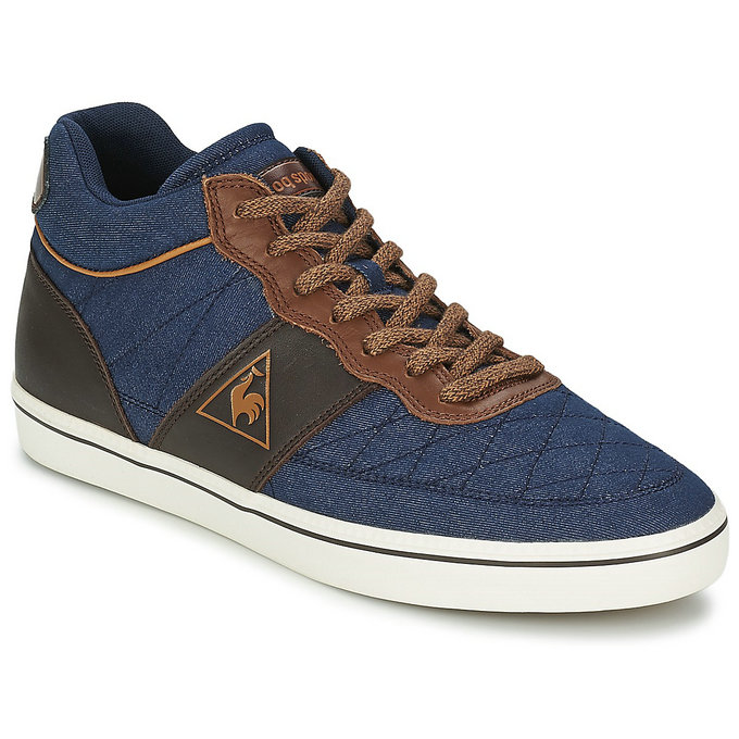 Le Coq Sportif Trocad Mid Chambray Bleu Chaussures Basket Montante Homme