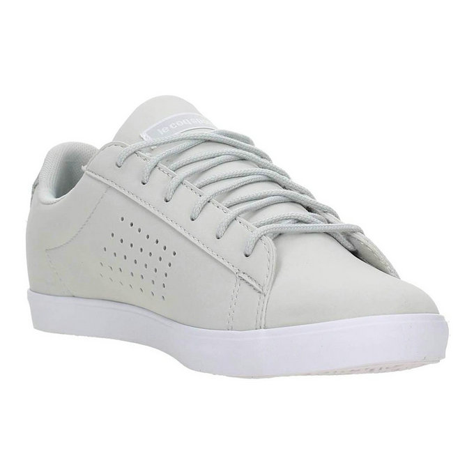 Le Coq Sportif 1620245 Sneakers Femme Cuir Grigio Chiaro - Chaussures Baskets Basses Femme