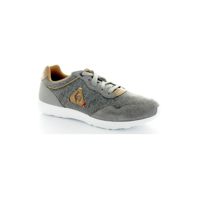 Le Coq Sportif Basket Dynacomf Cft Tones/Suede Grise - Chaussures Baskets Basses Homme