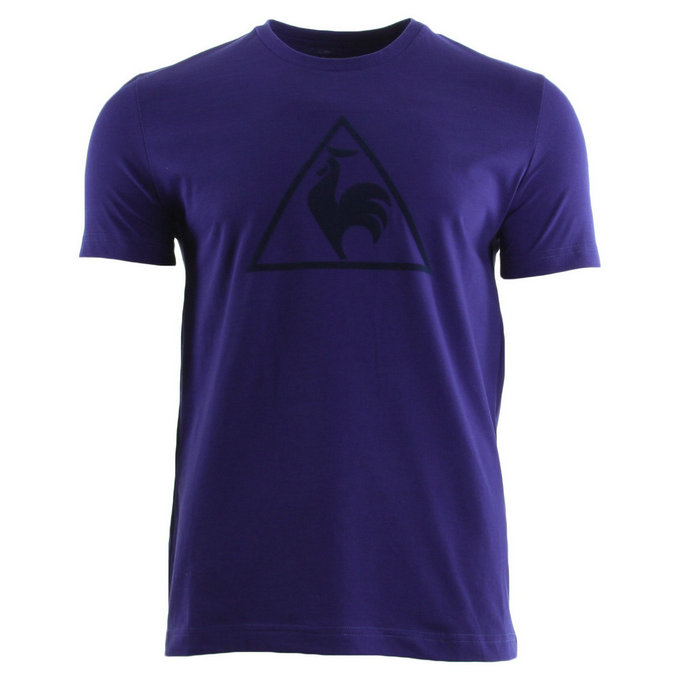 Le Coq Sportif Abrito Tee Ss M Ultra Blue Violet T-Shirts Manches Courtes Homme