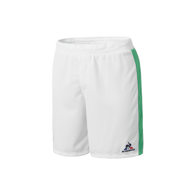 Le Coq Sportif As Saint Etienne Short Optical Blanc Shorts / Bermudas Homme
