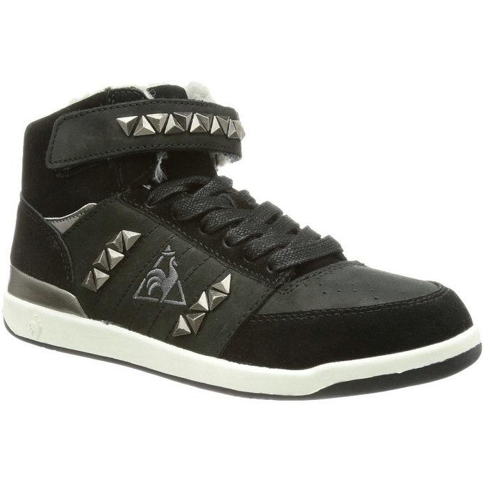 db03733d5198e3 Le Coq Sportif Diamond Elance Mid Noir - Chaussures Basket Montante Femme  Soldes Nice