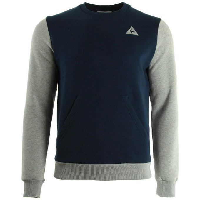 Le Coq Sportif Helior N°2 Crew Sweat M Dress Blue Light Grey Bleu Sweats Homme