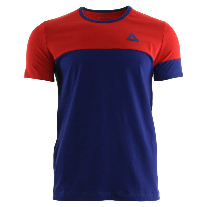 Le Coq Sportif Merrela Tee Ss M Pur Rouge Ultra Blue Rouge T-Shirts Manches Courtes Homme