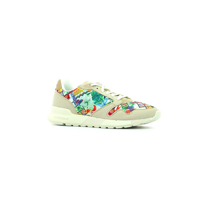 Le Coq Sportif Omega X Garden Fusion Gray Morn / Multicolore - Chaussures Baskets Basses Femme