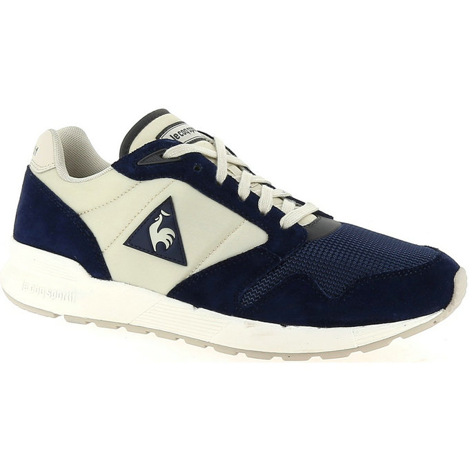 Le Coq Sportif Omega X Nylonsuede Marine/Gris - Chaussures Baskets Basses Homme