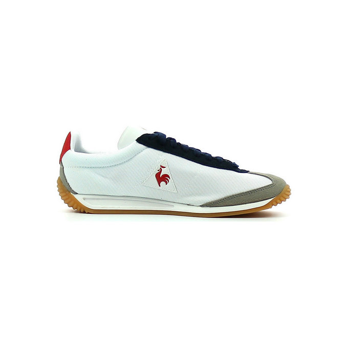 Le Coq Sportif Quartz Gum Optical Blanc / Titanium - Chaussures Baskets Basses