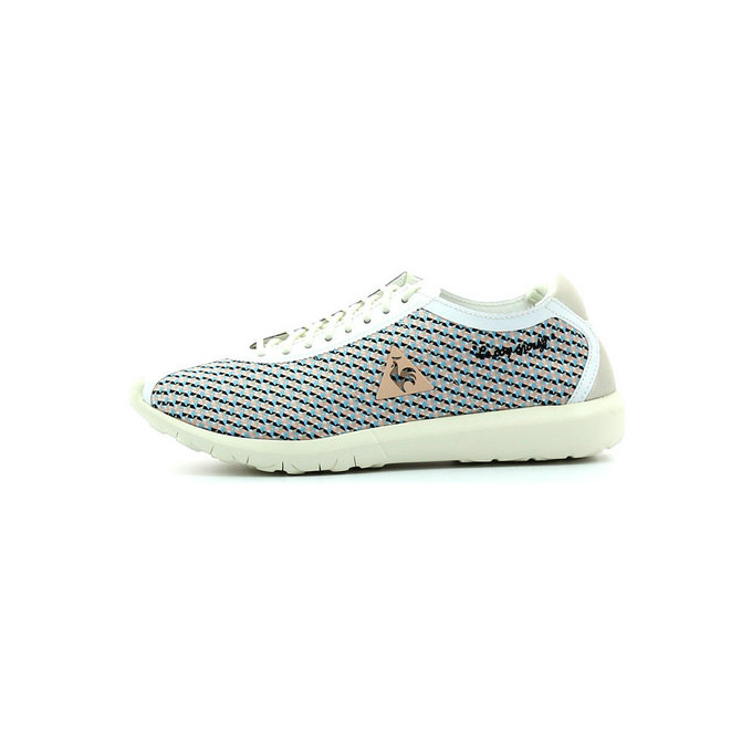 Le Coq Sportif Wendon Levity W Geo Jacquard Marshmallow / Tropical - Chaussures Baskets Basses Femme