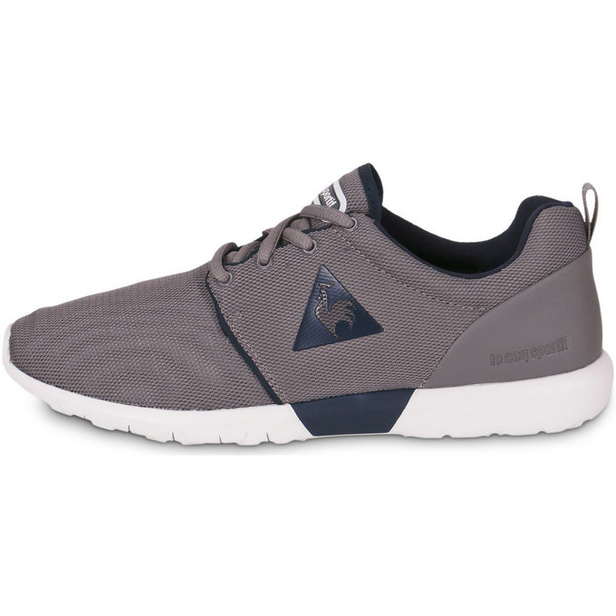 Le Coq Sportif Dynacomf Text Gris - Chaussures Baskets Basses Homme