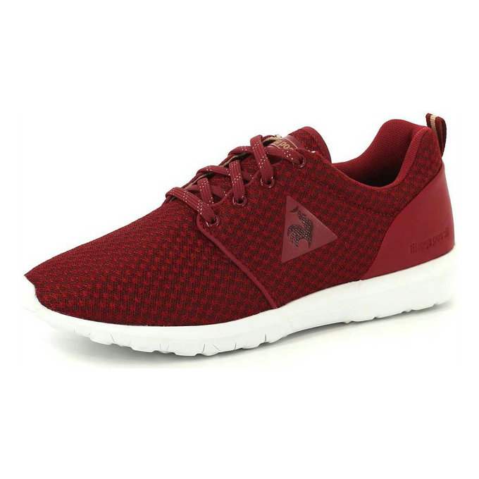 Le Coq Sportif Dynacomf W Feminine Mesh Chaussures Mode Sneakers Femme Rouge Rouge