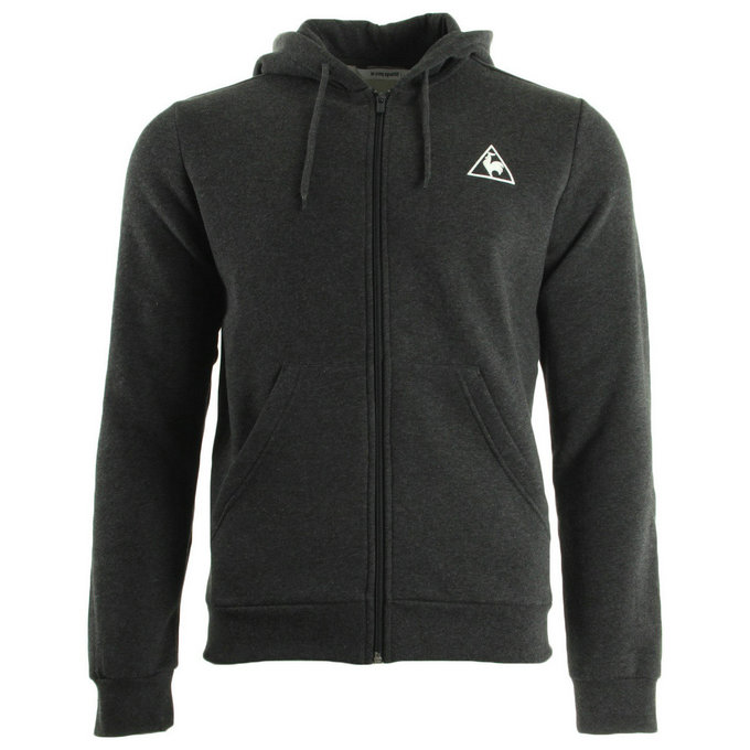 Le Coq Sportif Ailier Fz Hood Brushed M Dark Heather Grey Gris Sweats Homme