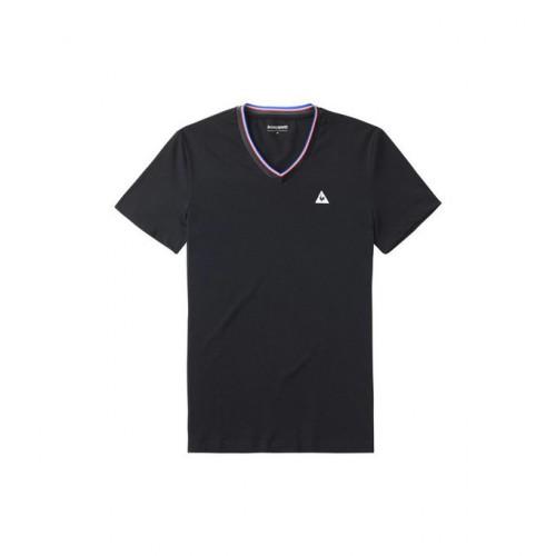 8fbbd8761ffe Boutique de Le Coq Sportif T-Shirt Lauzet Noir T-Shirts Manches Courtes  Homme