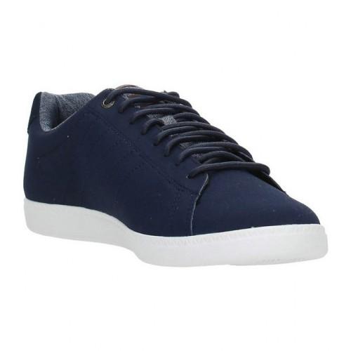 f2c82cd286cf Le Coq Sportif 1620413 Sneakers Homme Cuir Bleu - Chaussures Baskets Basses  Soldes France