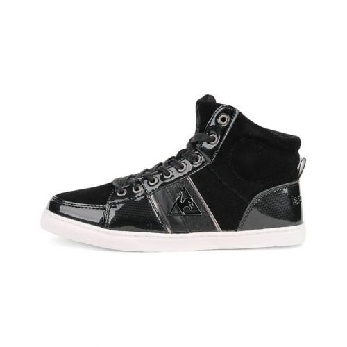 45480724ea7c9 Le Coq Sportif Assia Mid Noir - Chaussures Basket Montante Femme Site  Francais