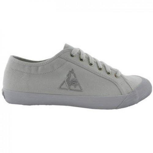 5470f9b50ce Le Coq Sportif Deauville Blanc Silver Cotton Blanco - Chaussures Baskets  Basses Rabais en ligne