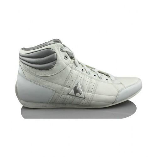 4f5f07bc6f21e6 Le Coq Sportif Escrimilla W Mid Blanc - Chaussures Basket Montante Femme  Soldes