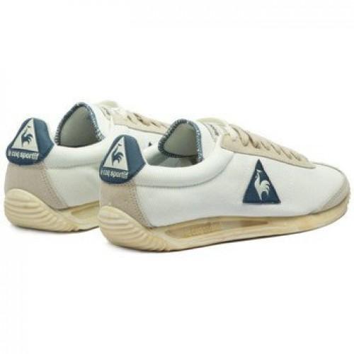4917cb7390c Le Coq Sportif Quartz Vintage Marshmallow - Baskets Homme Blanc - Chaussures  Moins Cher