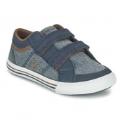 Le Coq Sportif Saint Gaetan Inf Craft Bleu Chaussures Baskets Basses Enfant Magasin Paris
