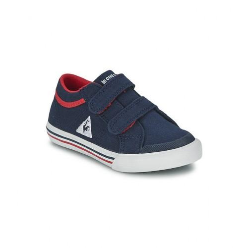 9b1cf854ecde4 Le Coq Sportif Saint Gaetan Inf Cvs Bleu Chaussures Baskets Basses Enfant  Soldes Marseille