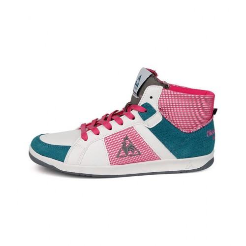 df07bab812b951 Le Coq Sportif Toulouse Mid Blanc/Multicolore - Chaussures Basket Montante  Femme Vendre Lyon