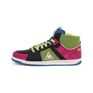 c74112edb272 Le Coq Sportif Toulouse Mid Noir/Multicolore - Chaussures Basket Montante  Femme Personnalisé