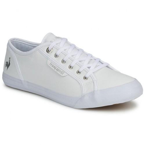 777fccda87f3 Nouveau Le Coq Sportif Deauville Plus Lea Blanc   Argent Chaussures Baskets  Basses