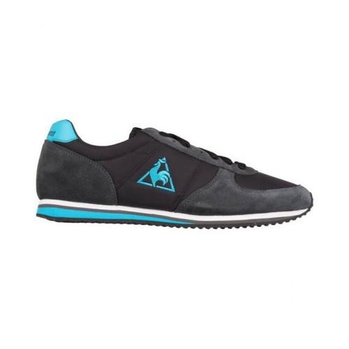 929709ddc26 Original Le Coq Sportif Bolivar Noir-Vert Clair Chaussures Baskets Basses  Femme