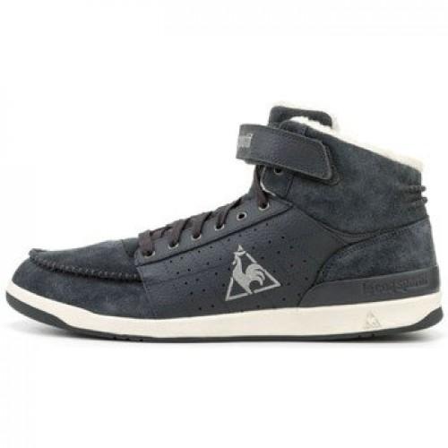 dd93c5aacf948a Solde Le Coq Sportif Diamond Lammy Cuir Gris - Chaussures Basket Montante  Homme