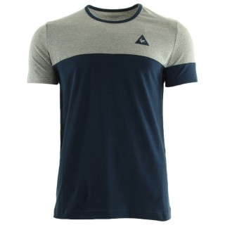 Vente Privee Le Coq Sportif Merrela Tee Ss M Light Heather Grey Dress Blue T-Shirts Manches Courtes Homme